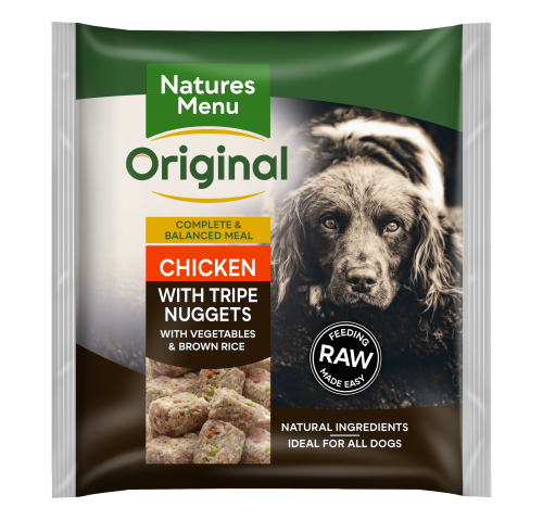 Natures Menu Chicken & Tripe Nuggets Front of Pack