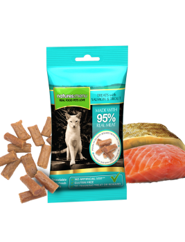 Natures Menu Real Meaty Cat Treats Salmon & Trout 60g Bag