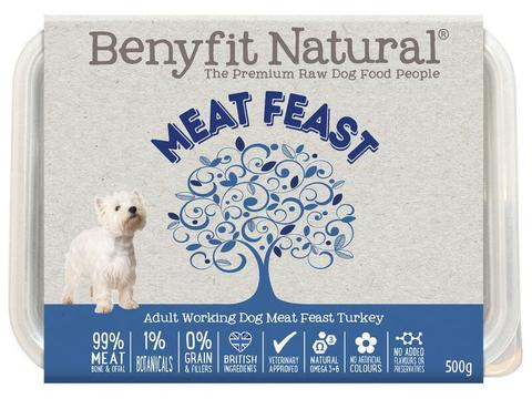 Benyfit Natural Meat Feast Turkey 500g Tub