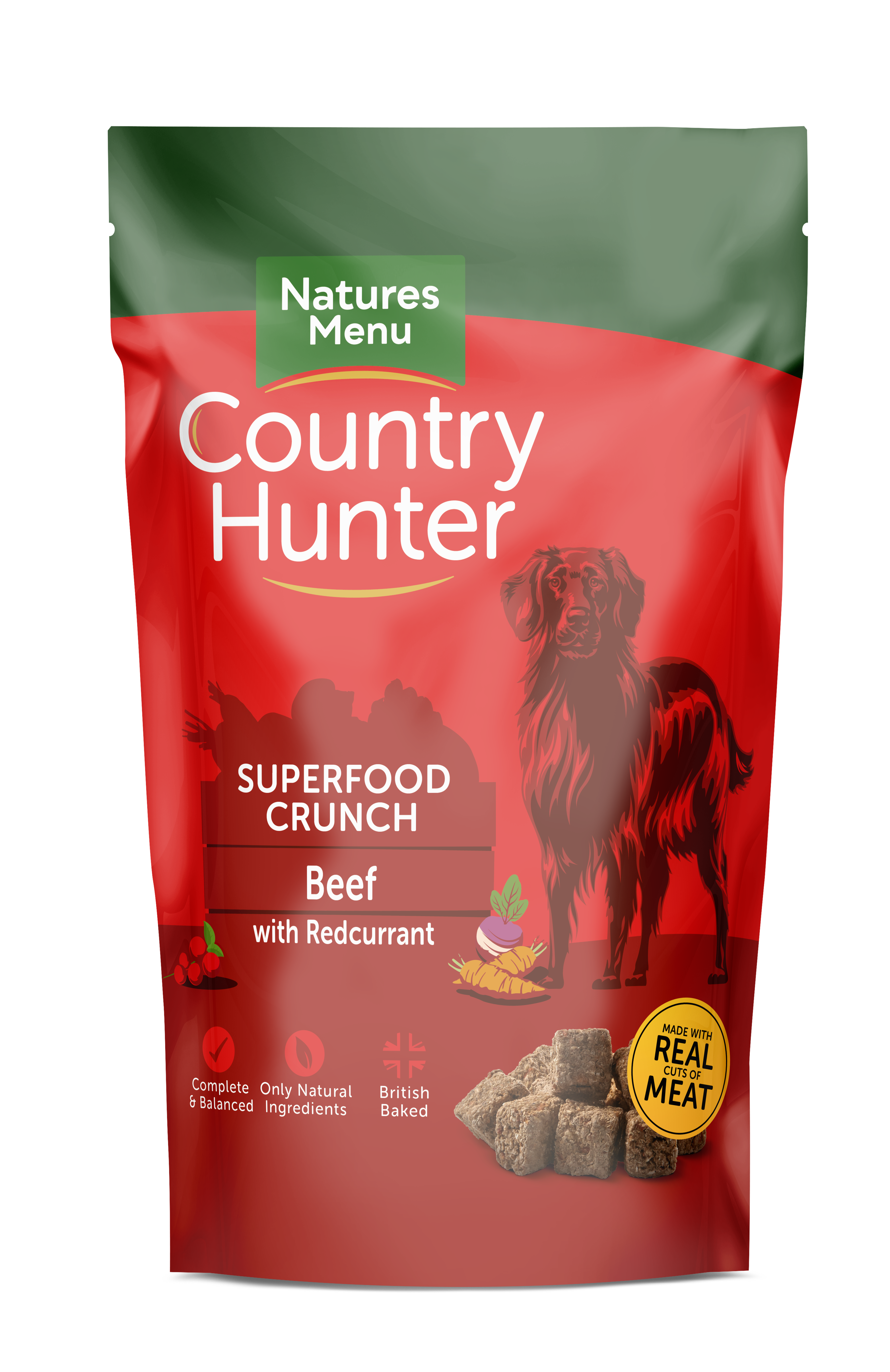 Country Hunter Superfood Crunch Adult Dog Beef with Redcurrant 1.2kg Front