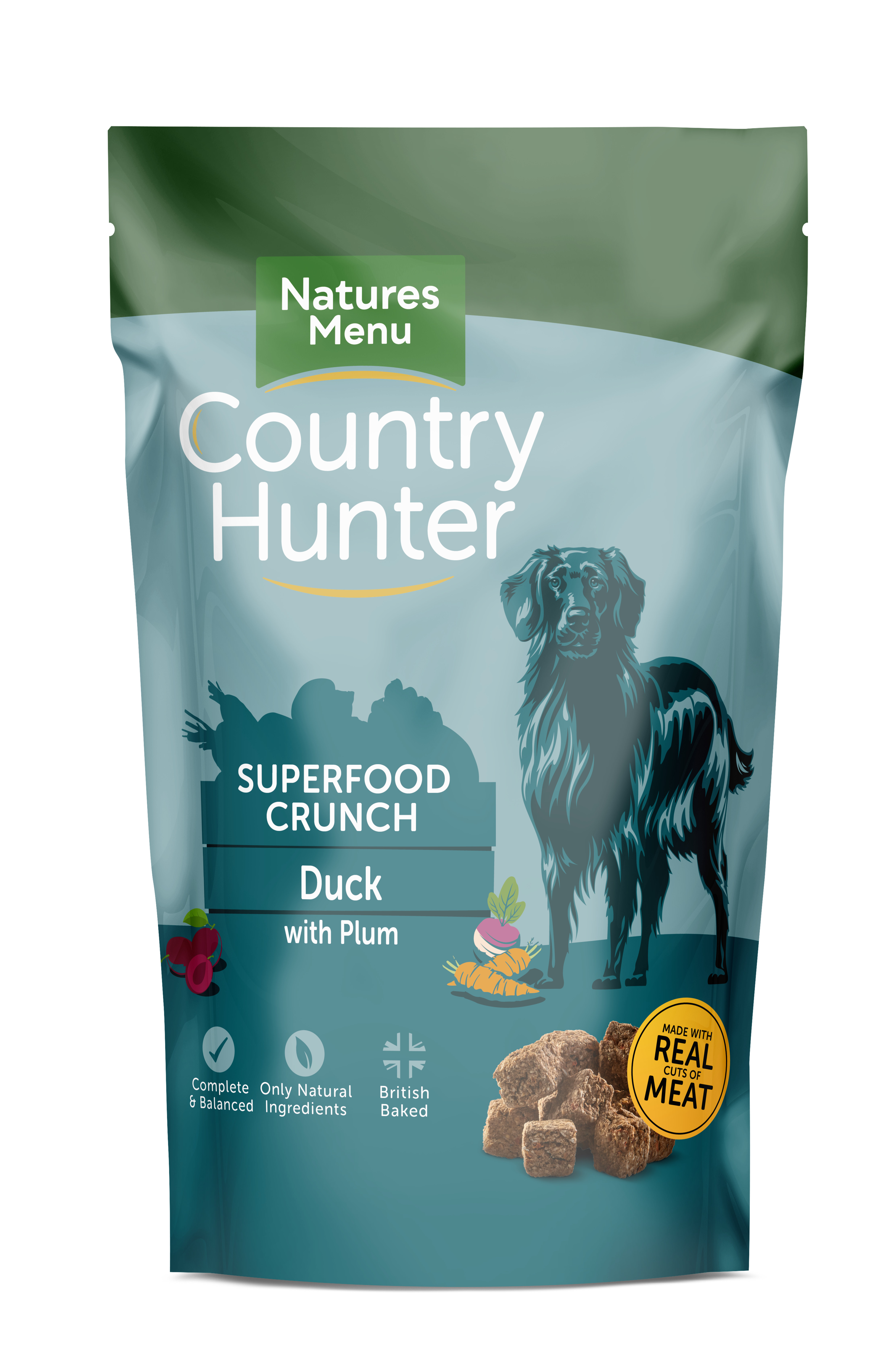 Country Hunter Superfood Crunch Adult Dog Duck with Plum 1.2kg Front