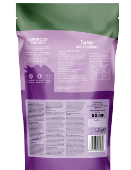 Country Hunter Superfood Crunch Adult Dog Turkey with Cranberry 1.2kg Back