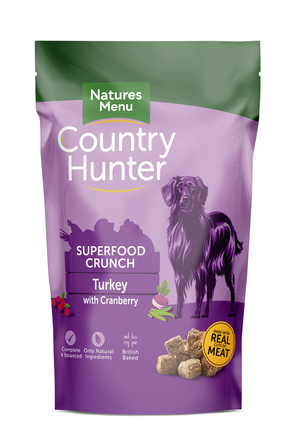 Country Hunter Superfood Crunch Adult Dog Turkey with Cranberry 1.2kg Front