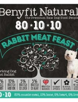 Benyfit Natural Rabbit Meat Feast 1kg Tub