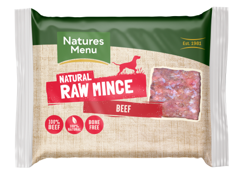 Natures Menu Beef Block 400g Front of Pack