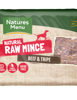 Natures Menu Beef & Tripe Block 400g Front of Pack
