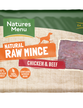 Natures Menu Chicken & Beef Block 400g Front of Pack