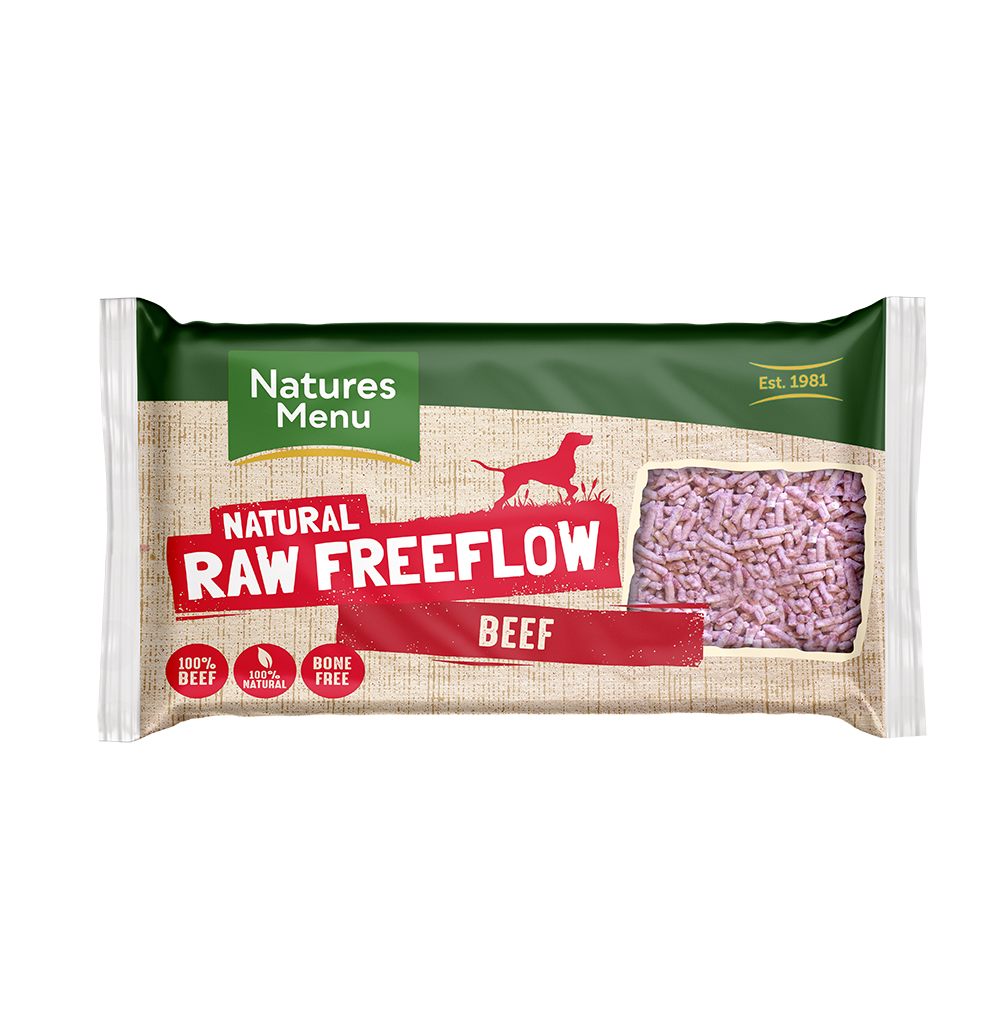 Natures Menu Freeflow Beef 2kg Front of pack