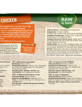 Natures Menu Freeflow Chicken 2kg Back of Pack