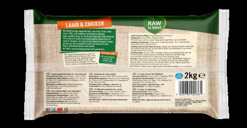 Natures Menu Freeflow Lamb & Chicken 2kg Back of pack