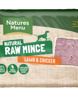 Natures Menu Lamb Block 400g Front of Pack
