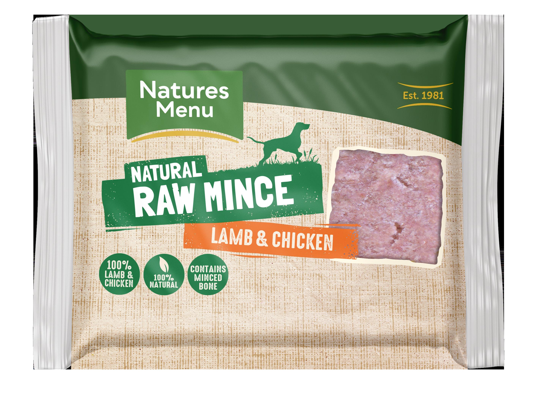 Natures Menu Lamb Block 400g Front of Pack