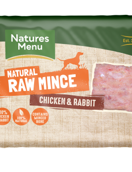 Natures Menu Chicken & Rabbit Block 400g Front of Pack