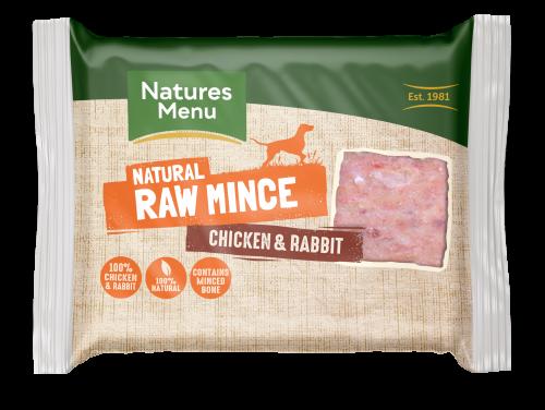 Natures Menu Chicken & Rabbit Block 400g Front of Pack