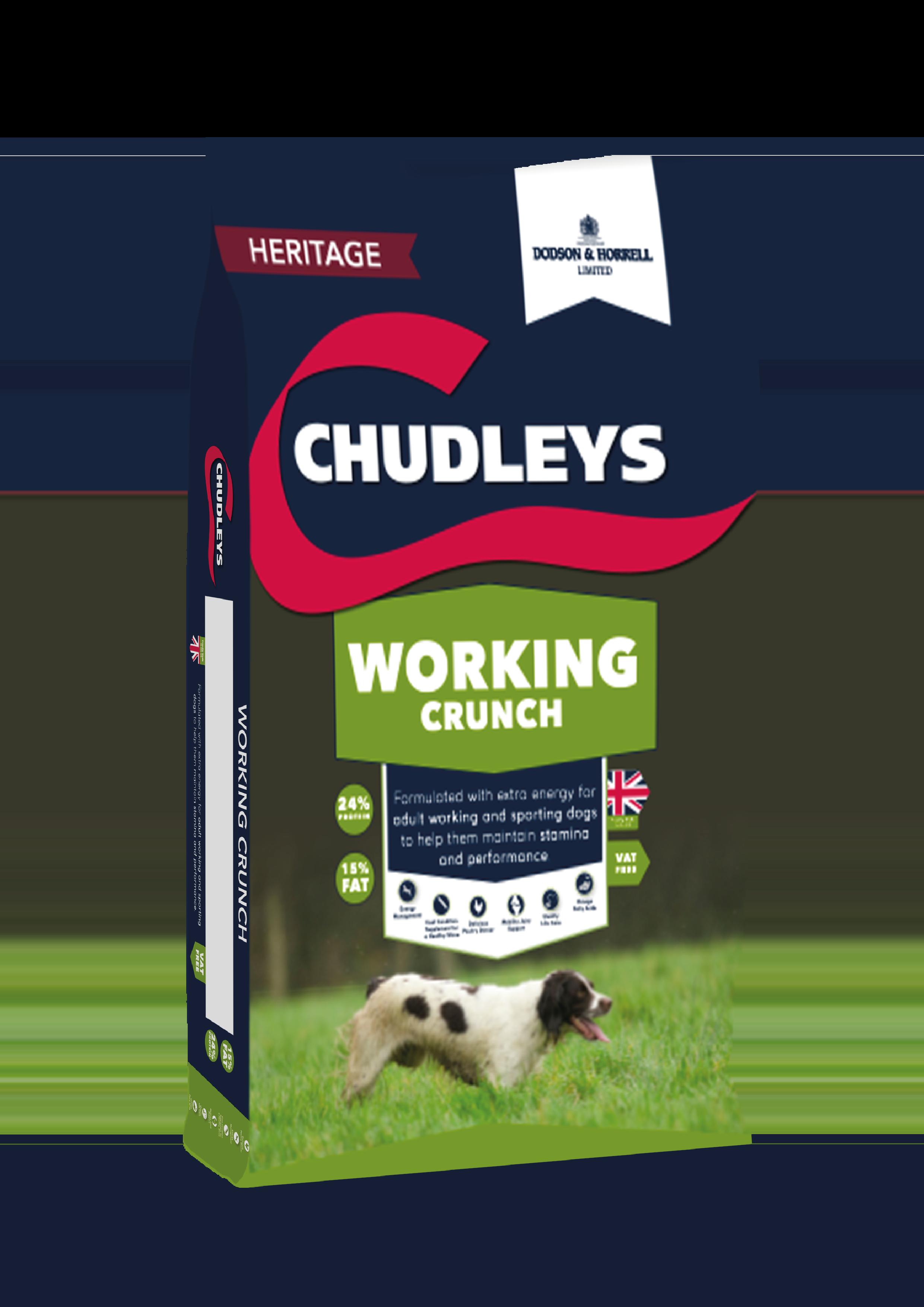 Chudleys Working Crunch 15kg Bag