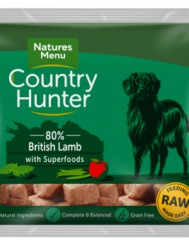 Natures Menu Country Hunter Nuggets Lamb 1kg Bag Front of Pack