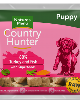 Natures Menu Country Hunter Nuggets Puppy 1kg Bag Front of Pack
