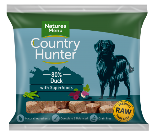 Natures Menu Country Hunter Nuggets Duck 1kg Bag Front of Pack