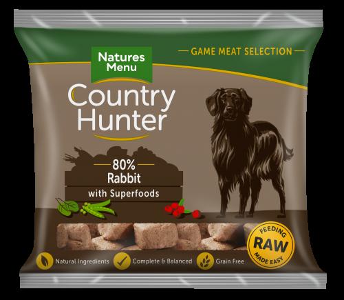 Natures Menu Country Hunter Nuggets Rabbit 1kg Bag Front of Pack