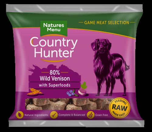 Natures Menu Country Hunter Nuggets Venison 1kg Bag Front of Pack