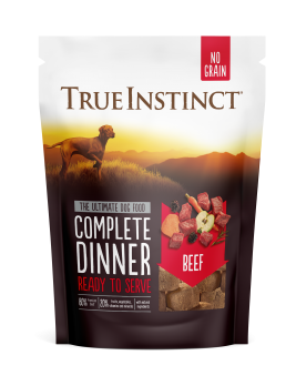 True Instinct Freeze Dried Beef Dinner 120g Front of Pack