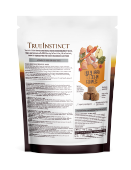 True Instinct Freeze Dried Chicken Dinner 120g Back of Pack