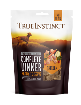 True Instinct Freeze Dried Chicken Dinner 120g Front of Pack
