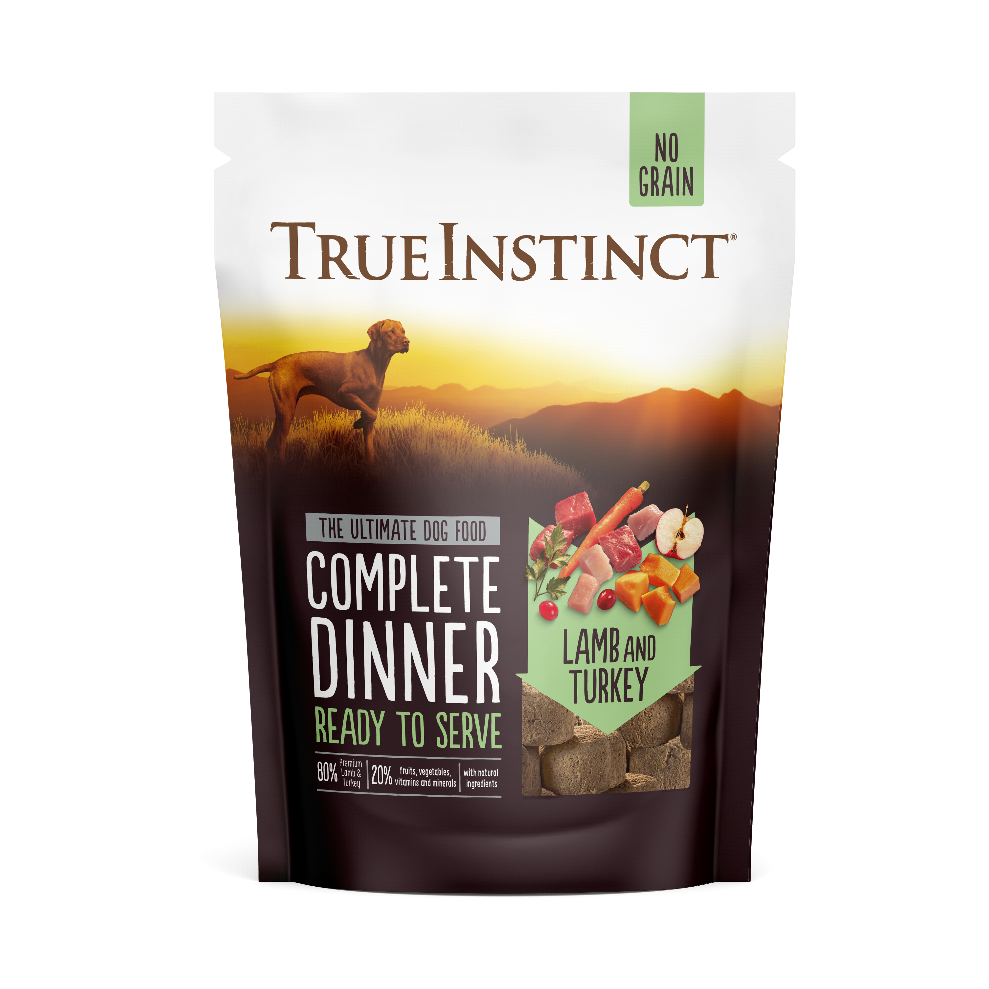 True Instinct Freeze Dried Complete Lamb & Turkey Dinner 120g Front of Pack