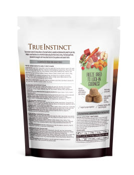 True Instinct Freeze Dried Complete Lamb & Turkey Dinner 120g Back of Pack