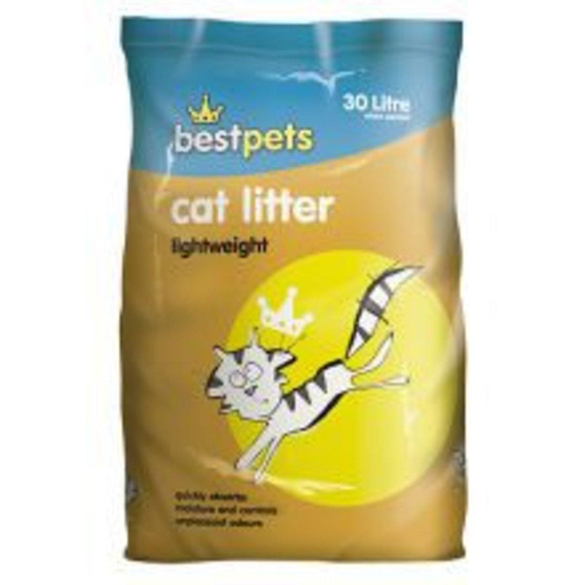 Bestpets Lightweight Cat Litter 30 litres Front of Pack