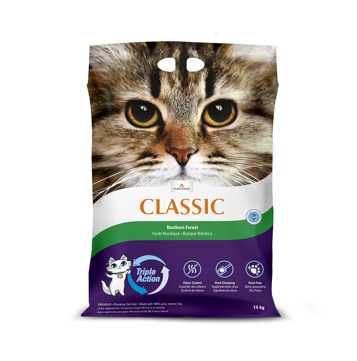 Intersand Classic Norwegian Forest 14kg Front of Pack