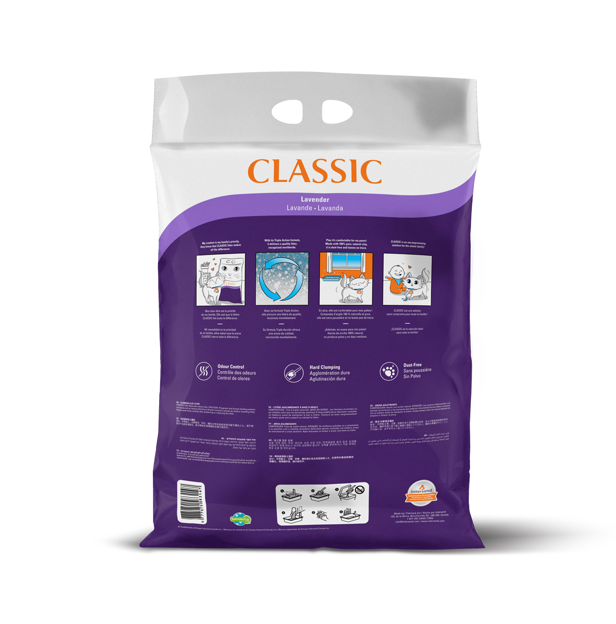 Intersand Classic Lavender 14kg Back of Pack