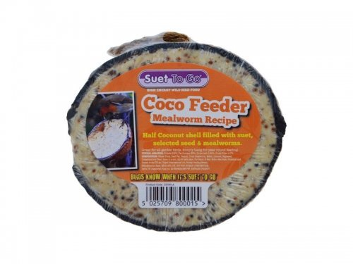 Suet to Go Half Coconut Feeder Mealworm