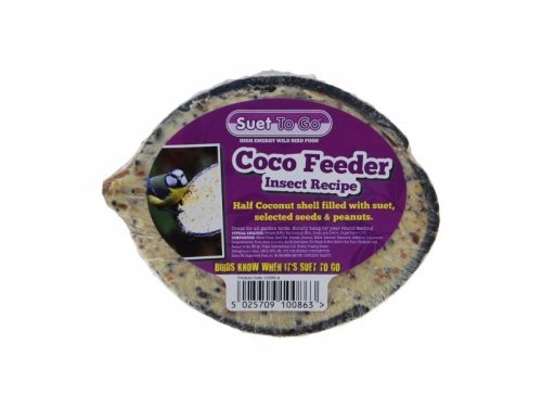 Suet to Go Insect Coconut Feeder