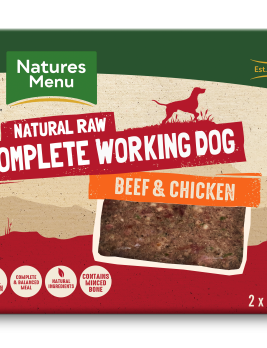 Natures Menu Working Dog Beef & Chicken 2 x 500g Front of Pack
